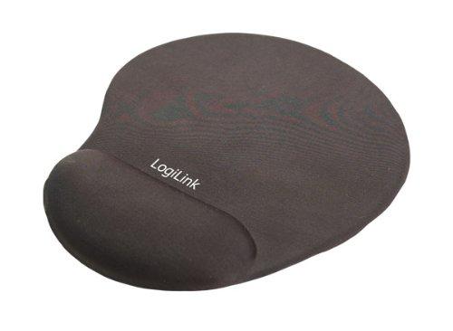 LogiLink Mauspad mit Silikon Gel Handauflage, schwarz