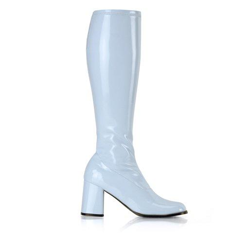 Higher-Heels, chaussures de verni pour homme laque babybleu