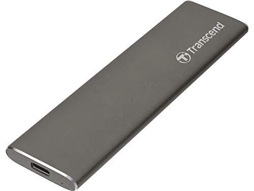 Transcend TS480GSJM600 externe SSD für Mac 480 GB, USB 3.1, Gen 2  (M.2 SATA), nativ im HFS+ Dateisystem formatiert