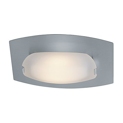 Access Lighting 63951LEDD-MC/FST Nido 1-Light LED Vanity/Flush Mount with Frosted Glass Shade, Matte Chrome by Access Lighting (Fst-matte)