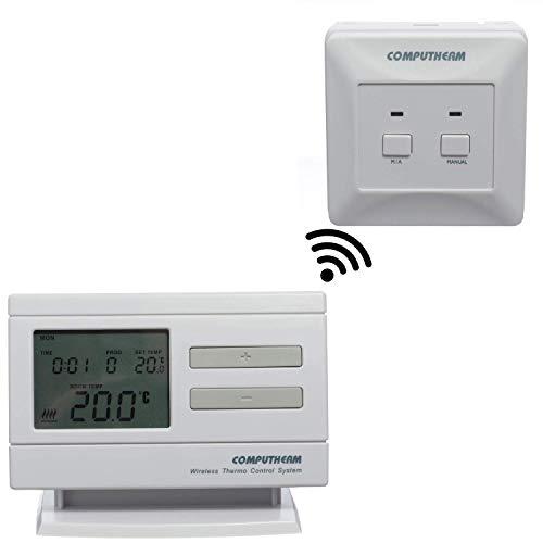 COMPUTHERM Q7RF digitaler, programmierbarer Funk-Raumthermostat für Heizung, Klimaanlagen & Fußbodenheizung, Wand-Thermostat kabellos & digital mit 6 Programmen pro Tag -