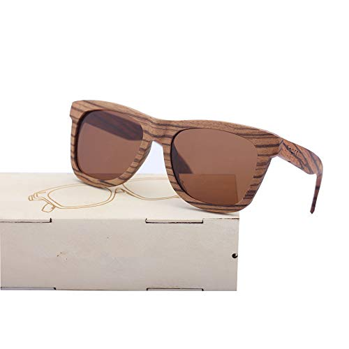 SLONGK New Luxury Mens Sonnenbrillen Holz Lässig Polarisierte Gläser Sonnenbrillen