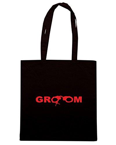T-Shirtshock - Borsa Shopping MAT0040 Groom To Be Maglietta Nero