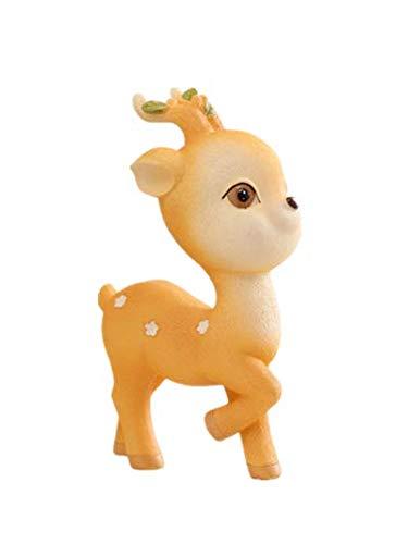 YONGYAO Regalo di Compleanno Carino Resina Deer Cartoon Ornamenti Creative Home Morbido Assembly Bambini-Piccolo-A