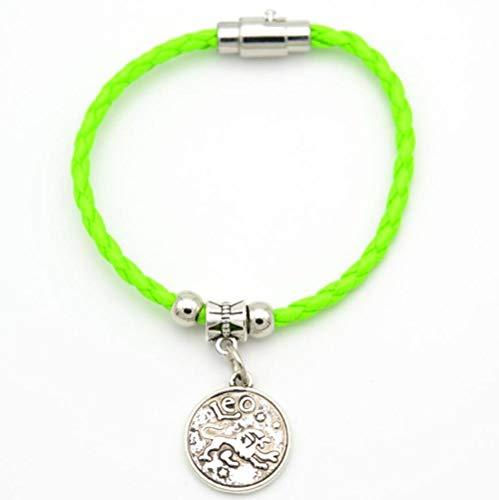 Armband SchmuckModeschmuck Magnet 12 Sternbild Silber Armband Handgemachten Schmuck Paar Liebhaber Geschenk - Zwölf Knoten-knopf