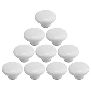 Keramik Möbelknopf, Teckpeak 10er-Pack Set von Dekorative Schubladengriffe Griffe Knauf Tür für Schränke, Schubladen, Truhen usw