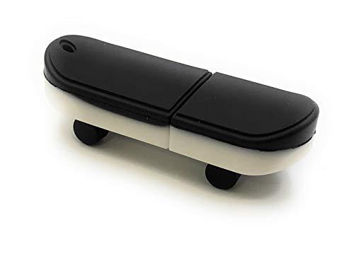Onlineworld2013 Skateboard Skaten Board Schwarz Funny USB Stick 32 GB USB 3.0