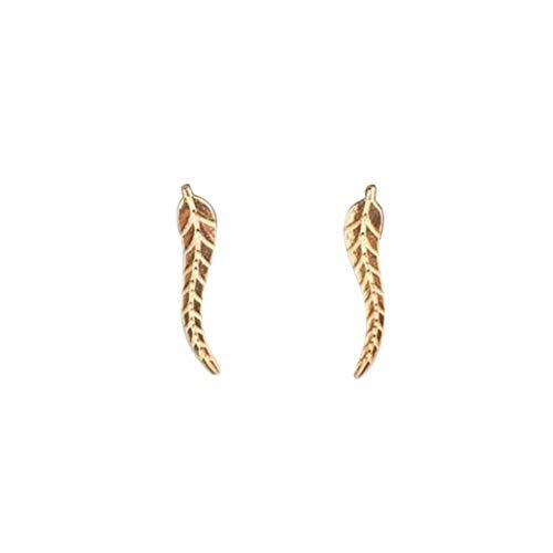 Meclelin Ohrklemme Damen Mode Metall Blätter Ohrringe