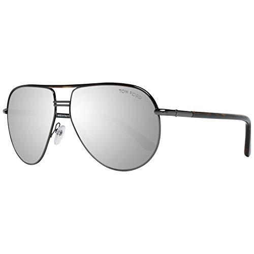 Tom Ford Für Mann 0285 Cole Dark Tortoise / Gunmetal / Grey Mirror Metallgestell Sonnenbrillen, 61mm