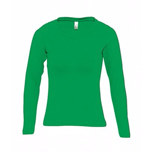 SOLS Womens/Ladies Majestic Long Sleeve T-Shirt (XXL) (Kelly Green)  available at amazon for Rs.1206