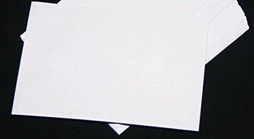 50 Stück Versandtaschen Briefumschläge C5 A5 weiß Haftklebend ohne Fenster 162x229 mm HK