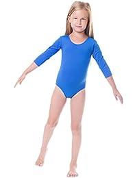 Ballettanzug Mädchen Gymnastikanzug 3/4 Arm Ballett Trikot Tanz Gymnastik Turnanzug