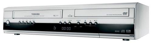 Toshiba D VR40 S TE VHS-/DVD-Rekorder Kombination (DivX-Zertifiziert) Silber