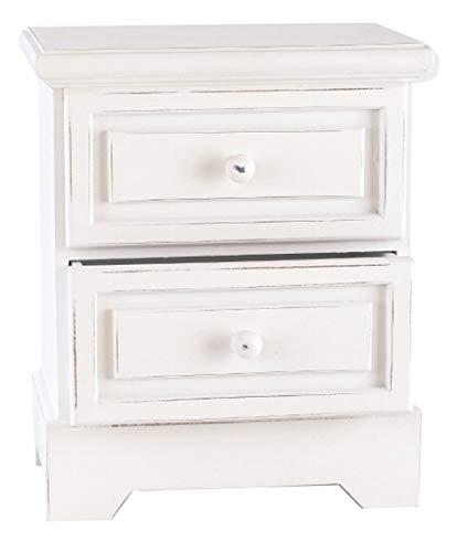 elbmöbel Kommode Schrank Schubladen aus Holz antik weiß Landhaus Badschrank Hochschrank groß klein 94cm 34cm (Weiß, 34cm x 29cm) - Antike Weiße Schränke