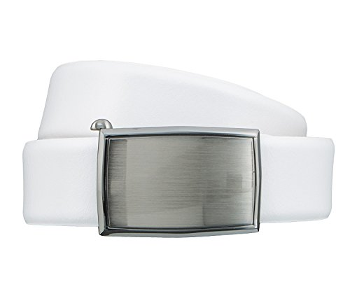 LLOYD Men's Belts Gürtel Herrengürtel Ledergürtel Weiß 6853, Länge:85 cm, Farbe:Weiß