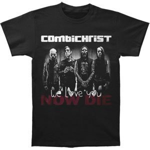 Michaner Walosde Combichrist Men's Band T-shirt Black XXX-Large