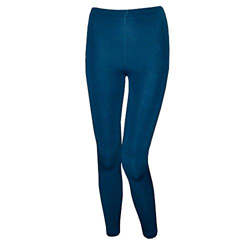 1-Stk-Thermo-Leggings-Warm-Damen-Muster-Farbig-Dick-Winter-Polyester-von-SGS-XXL-Petrol