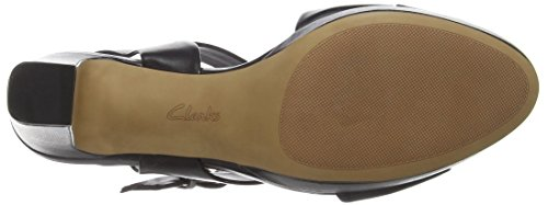 Clarks - Jenness Soothe, Scarpe col tacco Donna Nero (Black Leather)