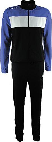 Kappa Trainingsanzug Manarola, Unisex Erwachsene M schwarz / königsblau