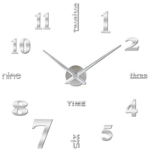 Orologio da Parete SOLEDI Orologio Parete Adesivo 3D Decorazione per Casa Ufficio...