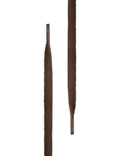 TubeLaces White Flat Schnürsenkel Schnürsenkel Braun (Brown)