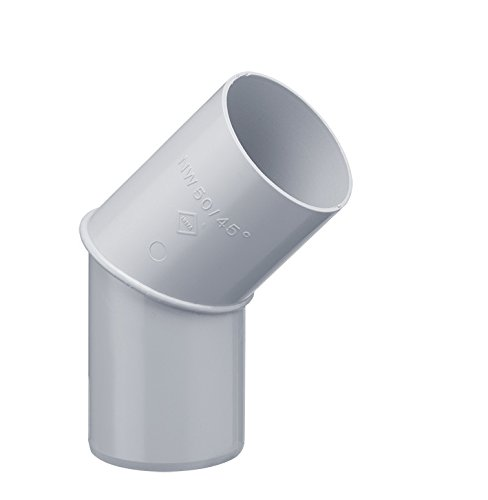 Inefa Rohrbogen DN 100, 45°, Grau Kunststoff, Regenrinne, Dachrinne
