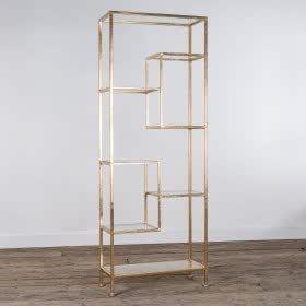 Modern Style gold gilt, geometrische Metall Glas Display
