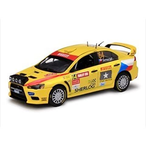 Mitsubishi Lancer Evolution X #64 M.Semerd/B.Ceplecha Pirelli Star Driver Rally of Great Britain 2009 1/43 Limited Edition 1 of 599 produced Worldwide Item # 43441 by Vitesse
