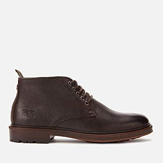 Barbour Men's Derwent Leather Chukka Boots - Dark Brown - UK 9 - Brown 10