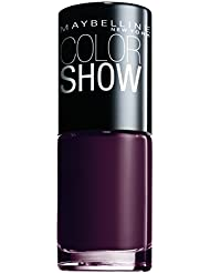 Maybelline New York Make-Up Nailpolish Color Show Nagellack Burgundy Kiss / Ultra glänzender Farblack in sattem Weinrot, 1 x 7 ml