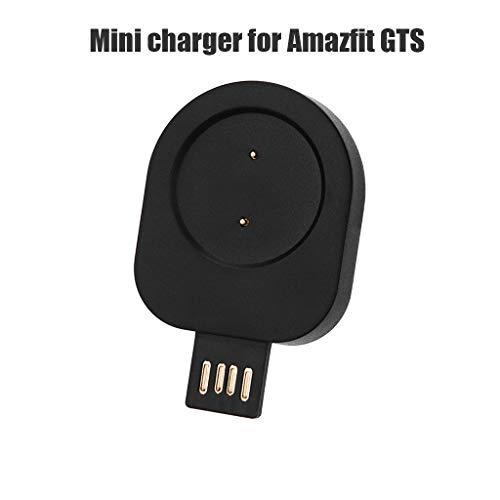 Ladegerät Kompatibel für Amazfit GTS, Ladeklammer Zubehör Ladekabel Kabel Ladestation Tragbar Abnehmbar und Leicht Multi-Function Replacement USB Cable Charging Dock Mini Charger (Schwarz)