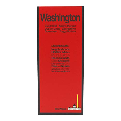 Red Maps WASHINGTON, DC Street Map and City Guide (Washington Dc Street Map)