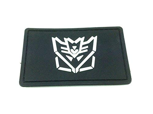 Patch Nation Decepticon Transformers PVC Airsoft Paintball Klett Emblem Abzeichen (Schwarzer Transformers-emblem)