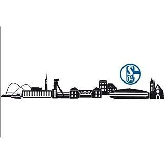 Alenio 9873 Wall Sticker FC Schalke 04 Skyline with Logo 60 x 20 cm (Set of 2)