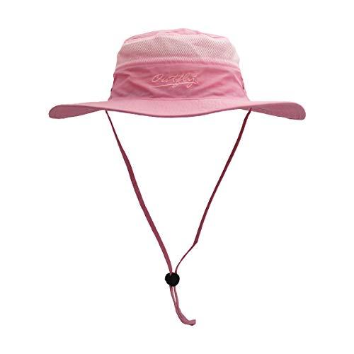 Outfly Wide Brim Sonnenhut Mesh Bucket Hut Leichtgewicht Bonnie Hut Perfekt für Outdoor-Aktivitäten Pink Angel Hat