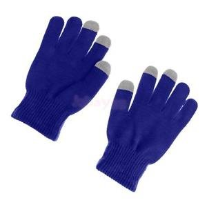 Alcoa Prime Touch Screen Gloves SmartPhone Tablet Winter Warm Knit Mitten Sapphire Blue