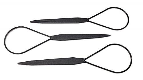 niavida 3 x PONY Dreher Topsy Tail Twister Haardreher Twist Hair Styler Frisurenhilfe Haar Loop Pferdeschwanz offener Zopf