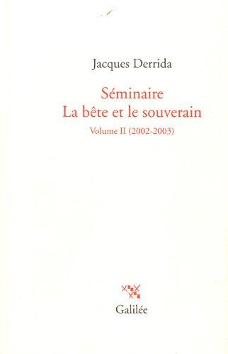 Seminaire La Bete Et Le Souverain