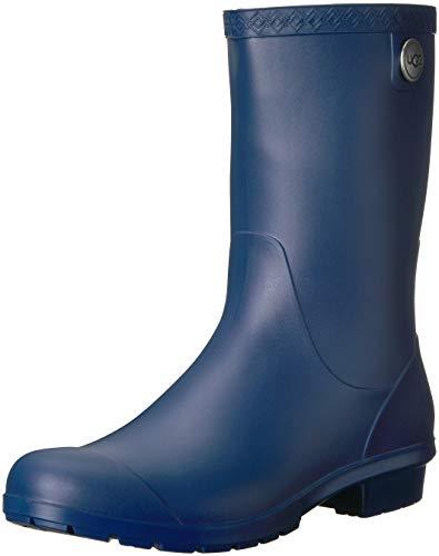 UGG Women's Sienna Matte Rain Boot, Blue Jay, 8 M US