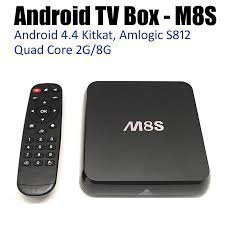 KODI (XBMC)Quad Core Fully Loaded Streaming Media Player M8S Google Android Smart 4.4 TV Box With Fully Loaded 5G Free Movies Live Sports TV Box