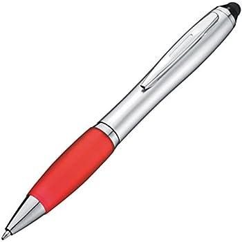 mit satiniertem Gehäuse silber-schwarz Farbe 20 Kugelschreiber