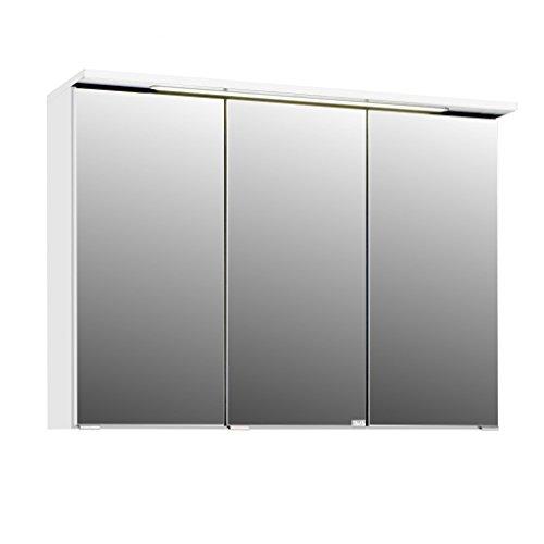 #3D Spiegelschrank in 5 verschiedenen breiten Bolina weiss inkl. intergrierter Beleuchtung-Steckdose (breite 90cm)#
