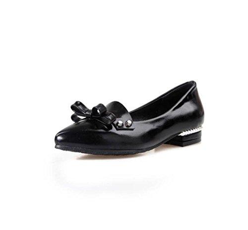 Décolleté Talon Peu Profond - - Low Chaussures De Loisirs Bow Bow Noir