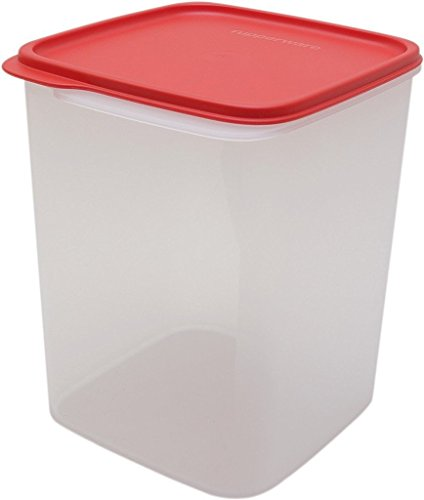 Tupperware Square Smart Saver Container 5.4 Litres White Transparent Red Lid  available at amazon for Rs.550