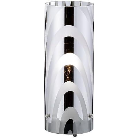 Wofi 832801640000 - Lámpara de mesa (1 luz, 10 cm de diámetro, 25 cm de altura), color níquel mate