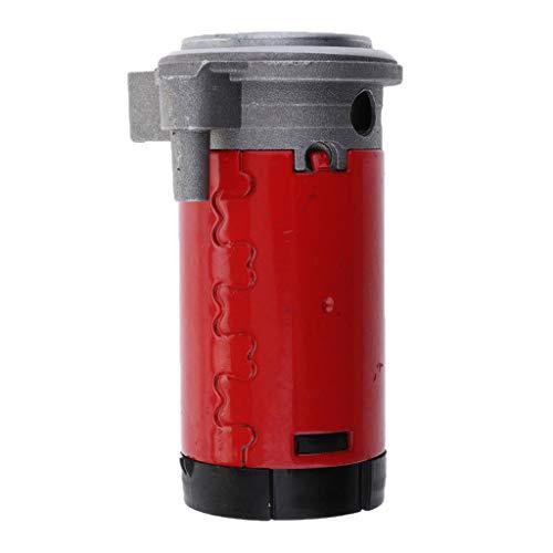 FLAMEER 12V Rot Luft Kompressor Signalhorn für Zeug Hupe Drucklufthorn Auto PKW, 100-115db