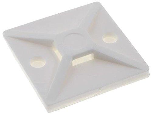 10x MB4A-NA Self-adhesive cable tie base polyamide UL94V-2 natural 151-28469