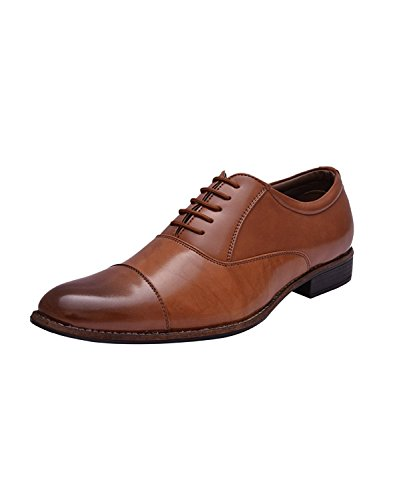 Sir Corbett Men's Tan Synthetic Oxford Lace Up Shoes