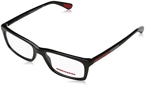 Prada Linea Rossa Für Mann 02c Black Kunststoffgestell Brillen, 53mm Prada Brillengestelle Männer