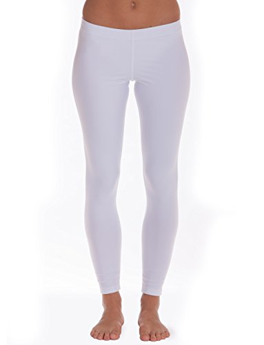 iQ-UV Damen 300 Leggins, Badehose Lang Leggings, White, M (40)